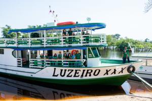Einweihung des 30. medizinischen Boots, der Luzeiro XXX