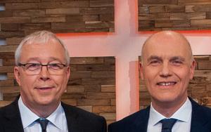 Pastoren Werner Dullinger (li.) und Johannes Naether