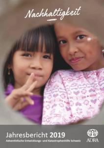 Cover des Jahresberichts 2019 von ADRA Schweiz